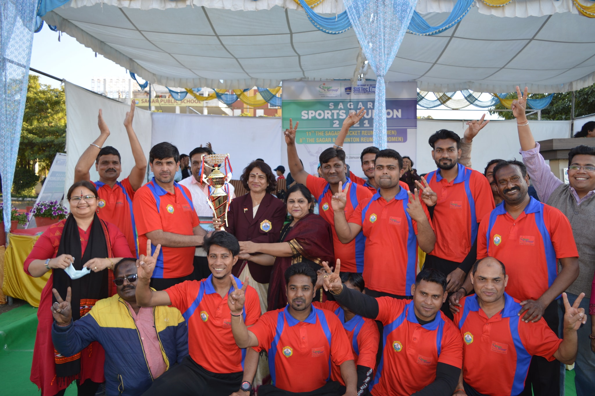 sagar sports reunion, cricket and badminton tournament, sagar group, sagar college bhopal, private engineering colleges in bhopal